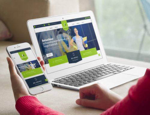 WordPress website en huisstijl ARCADIA Schoonmaak